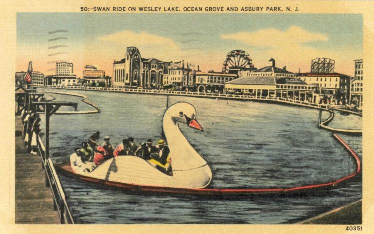 Palace Amusements. Postmarked July 2, 1947.
