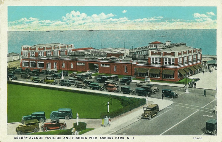 The Asbury Avenue Pavilion. Postmarked July 22, 1933.