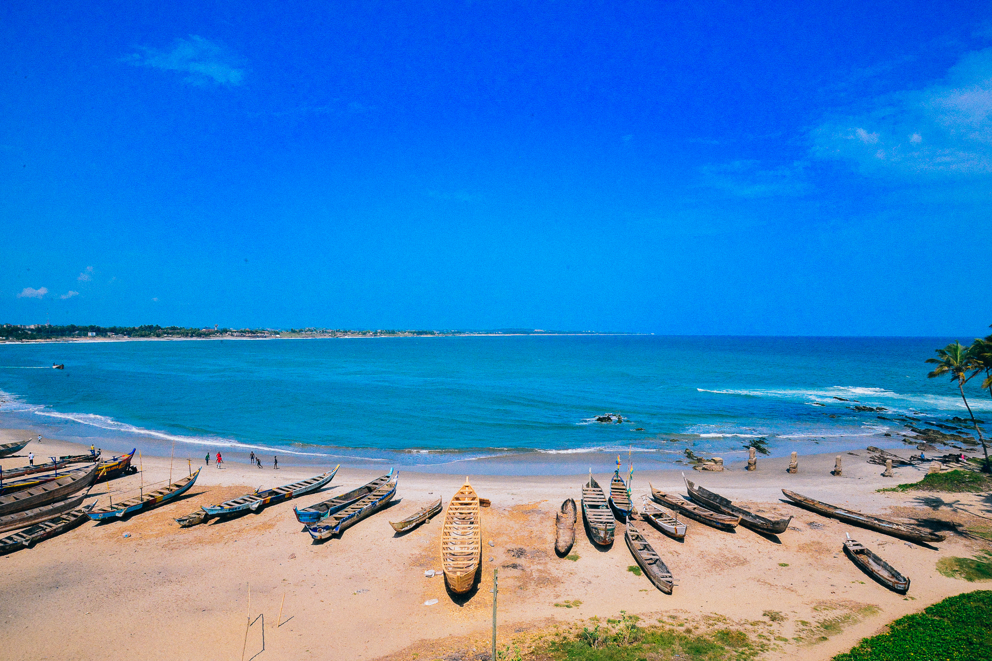 Slave shores from Elmina Castle