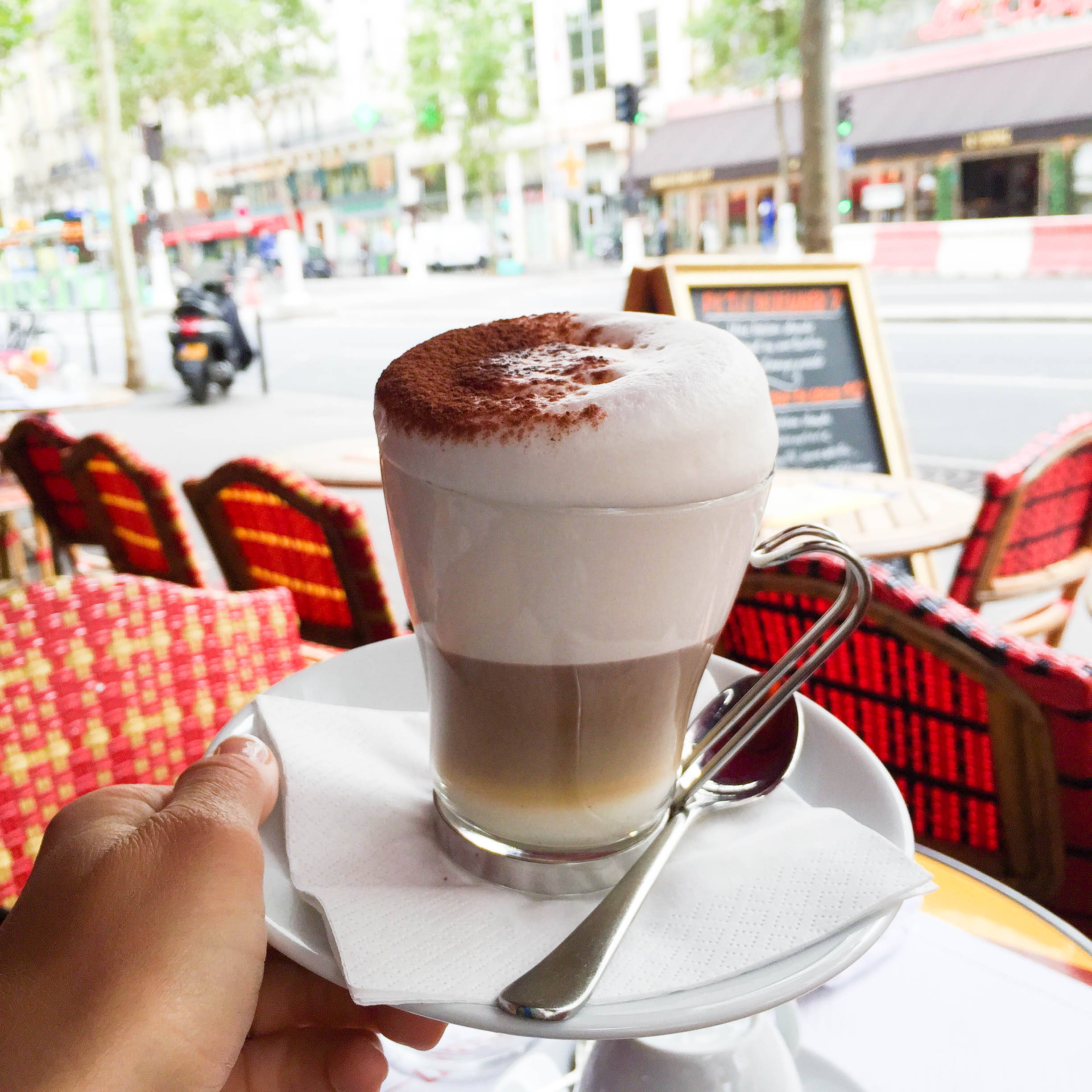 I had a cappuccino every morning and it was amazing. Some afternoons I would make an excuse to get another. I think I can honestly say, sitting at a bistro in Paris, sipping on a cappuccino, editing pictures or writing a blog post would be my definition of living the dream.