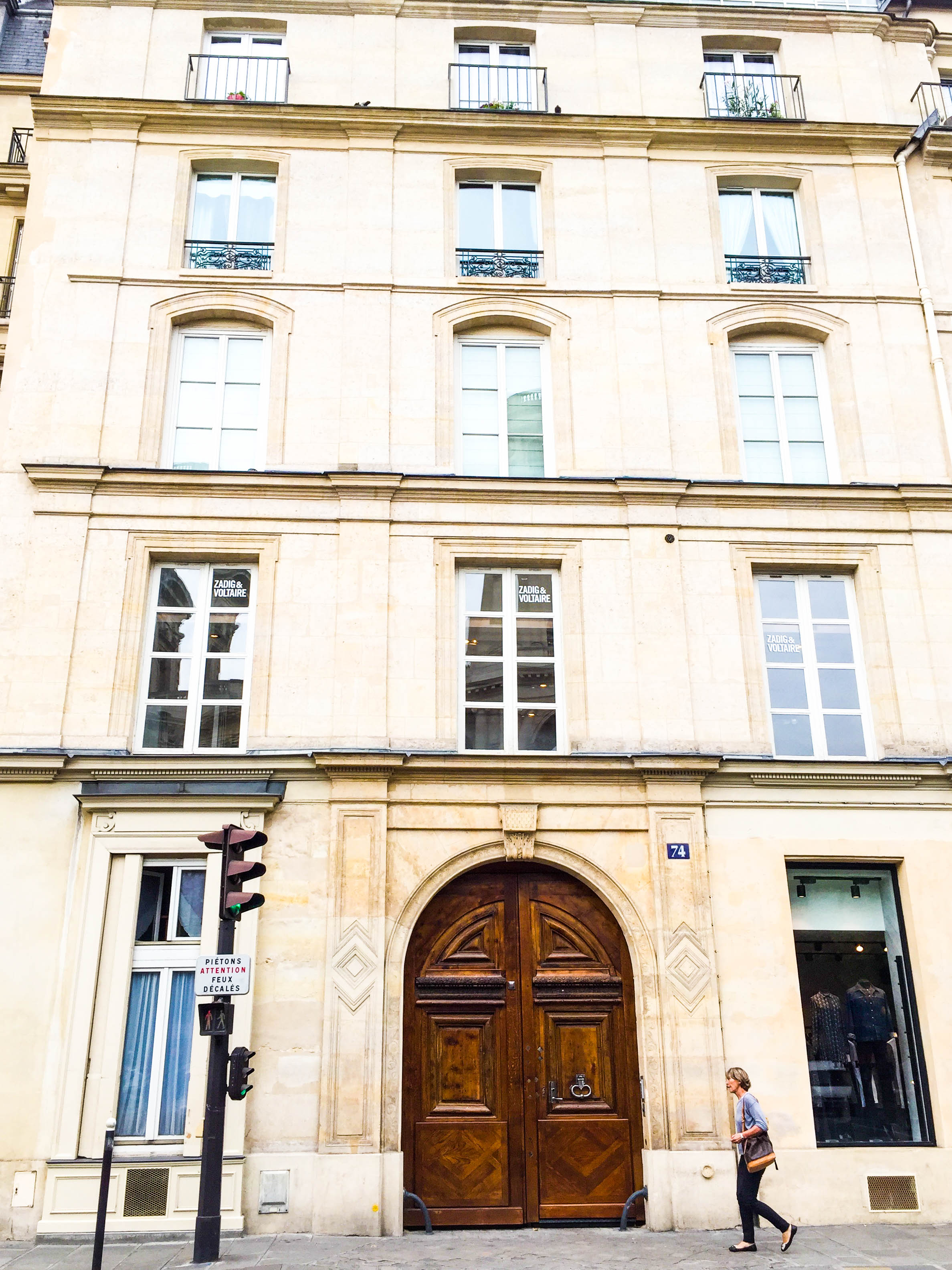 All of the doors in Paris are massive, which is strange because their hallways, showers,and rooms are tiny.