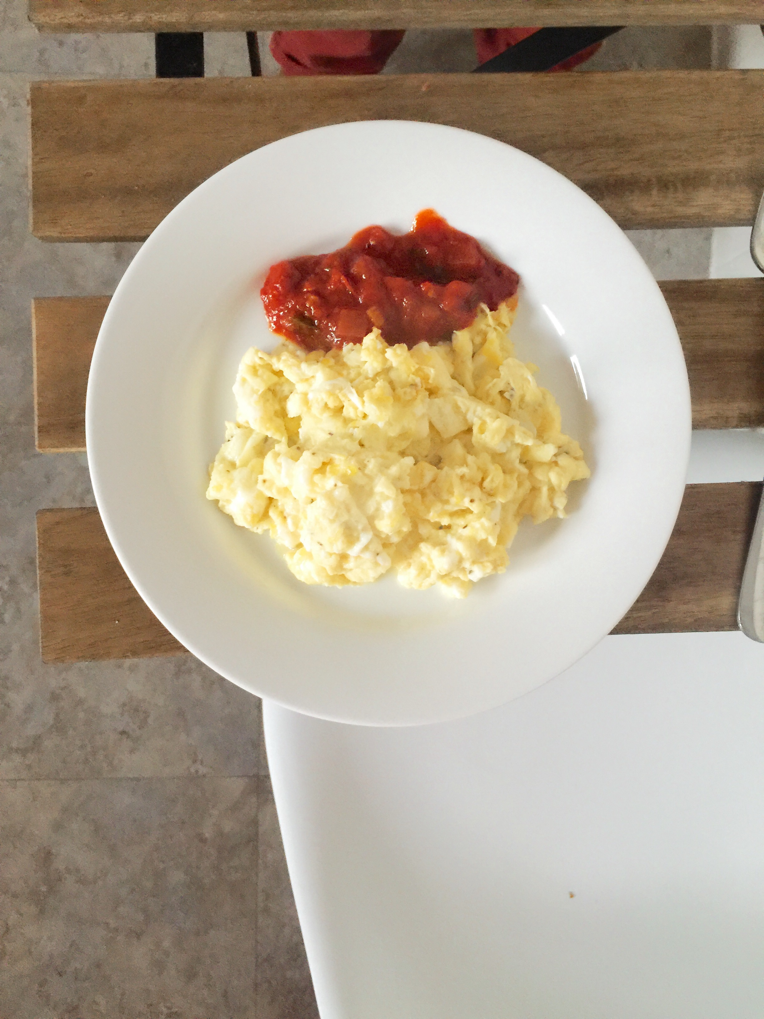 Eggs with salsa