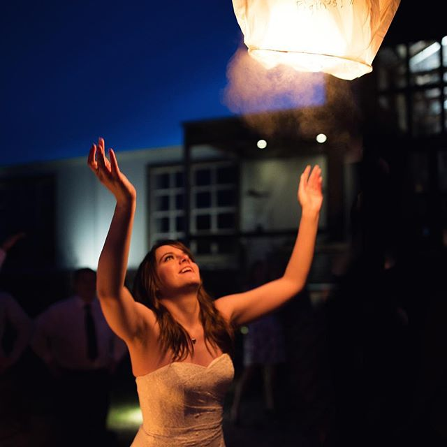 Lantern send offs are always so magical!  And they make for some awesome lighting as well!  Congrats to Lauren and Kyle on their big day! #memphisweddingphotography #memphisweddingphotographer #thejefferson #oxfordms