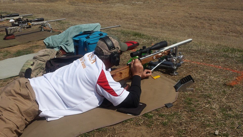 Team member Ken shooting at 600 yards