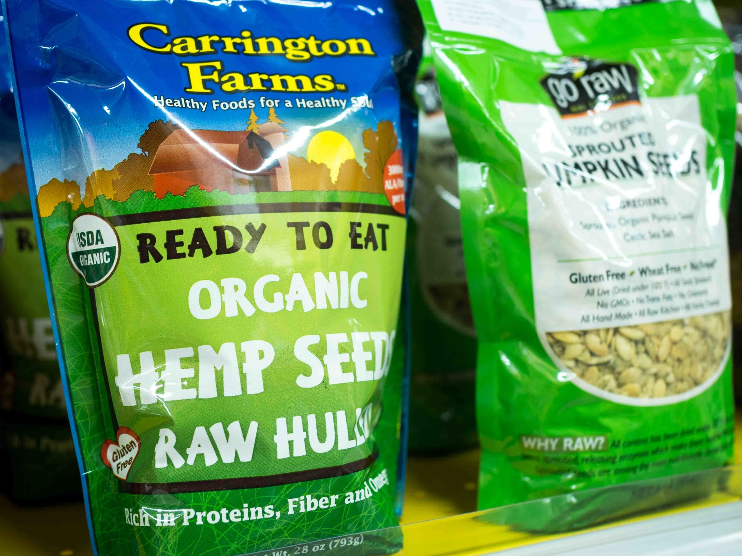 Carrington Farms Organic Hemp Seeds Raw Hulled
