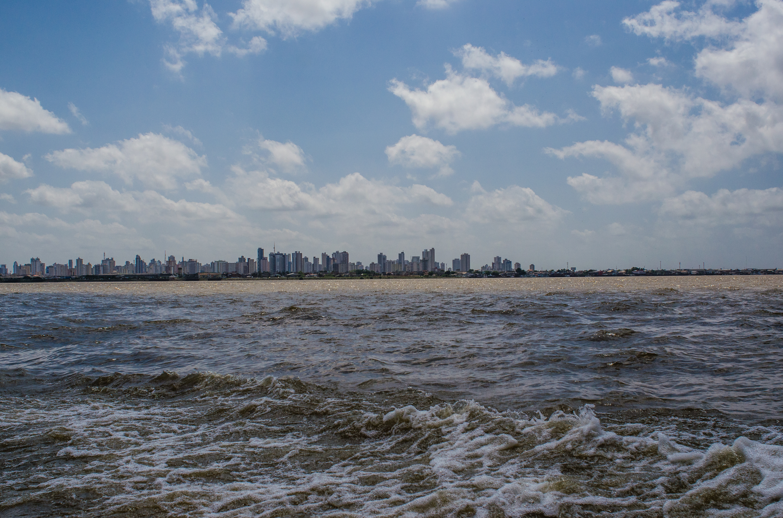 View of Belem from the water taxi.