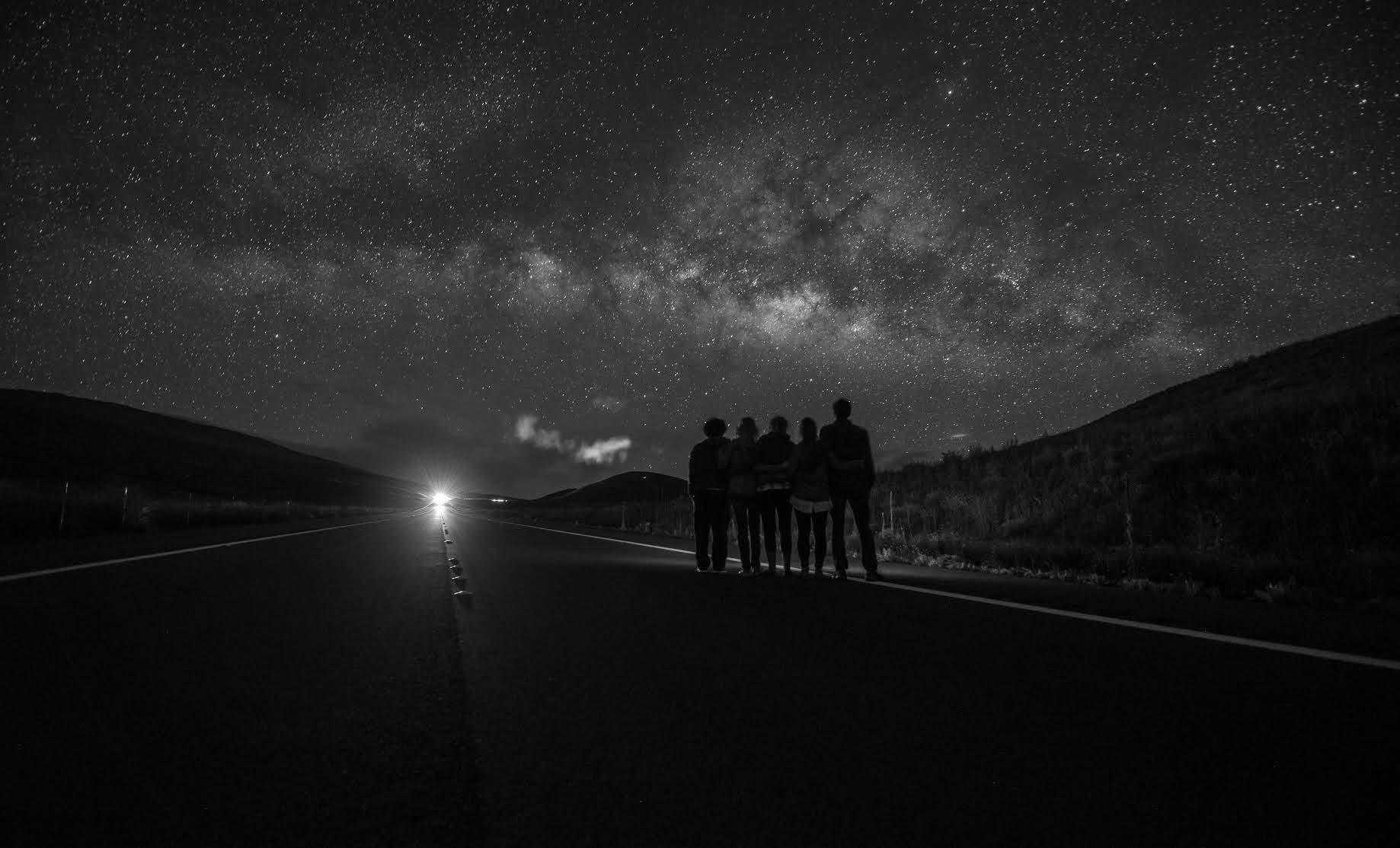 Beneath Mauna Kea, admiring the Milky Way (PC- Heather Morse).
