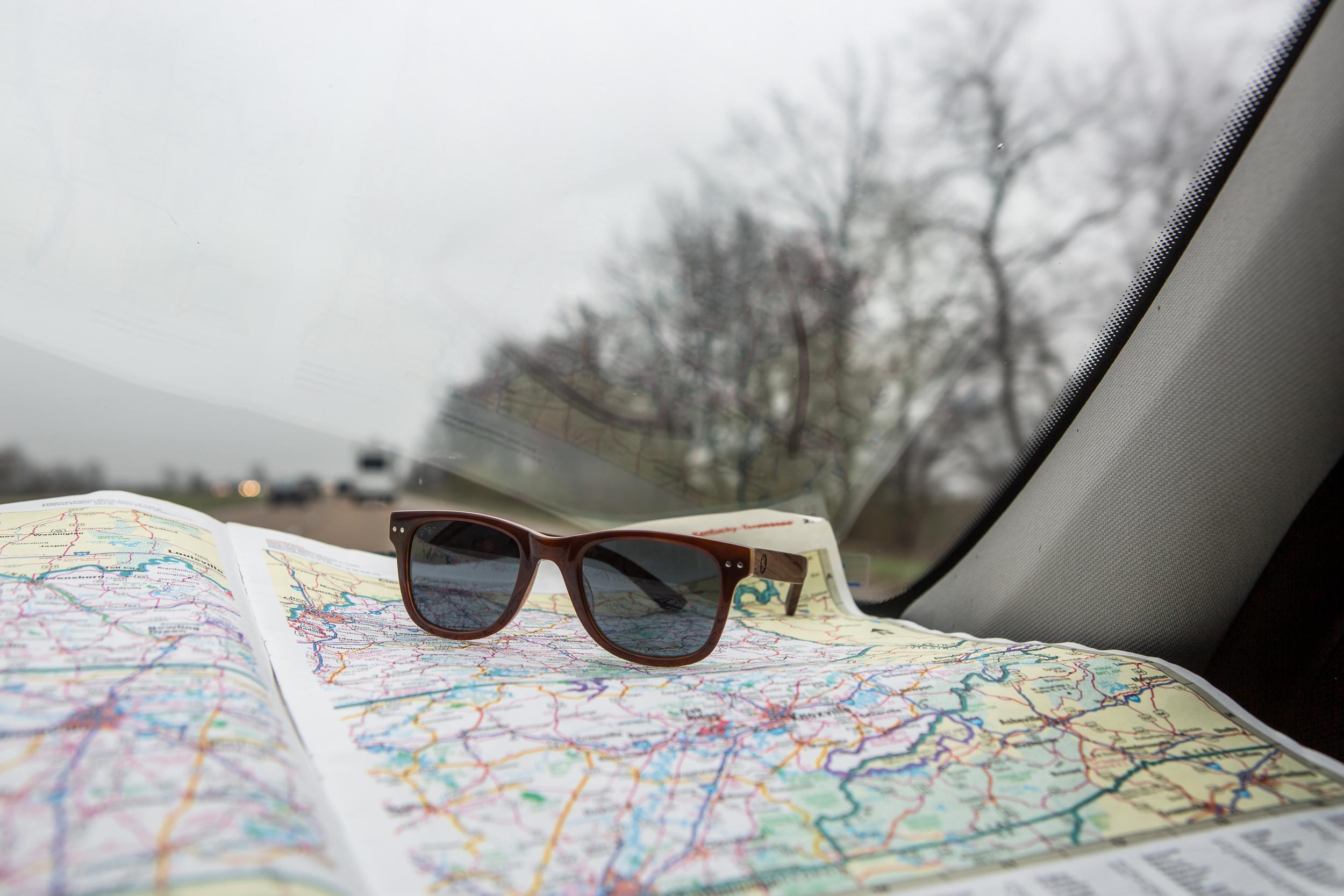 Dashboard map hangs.