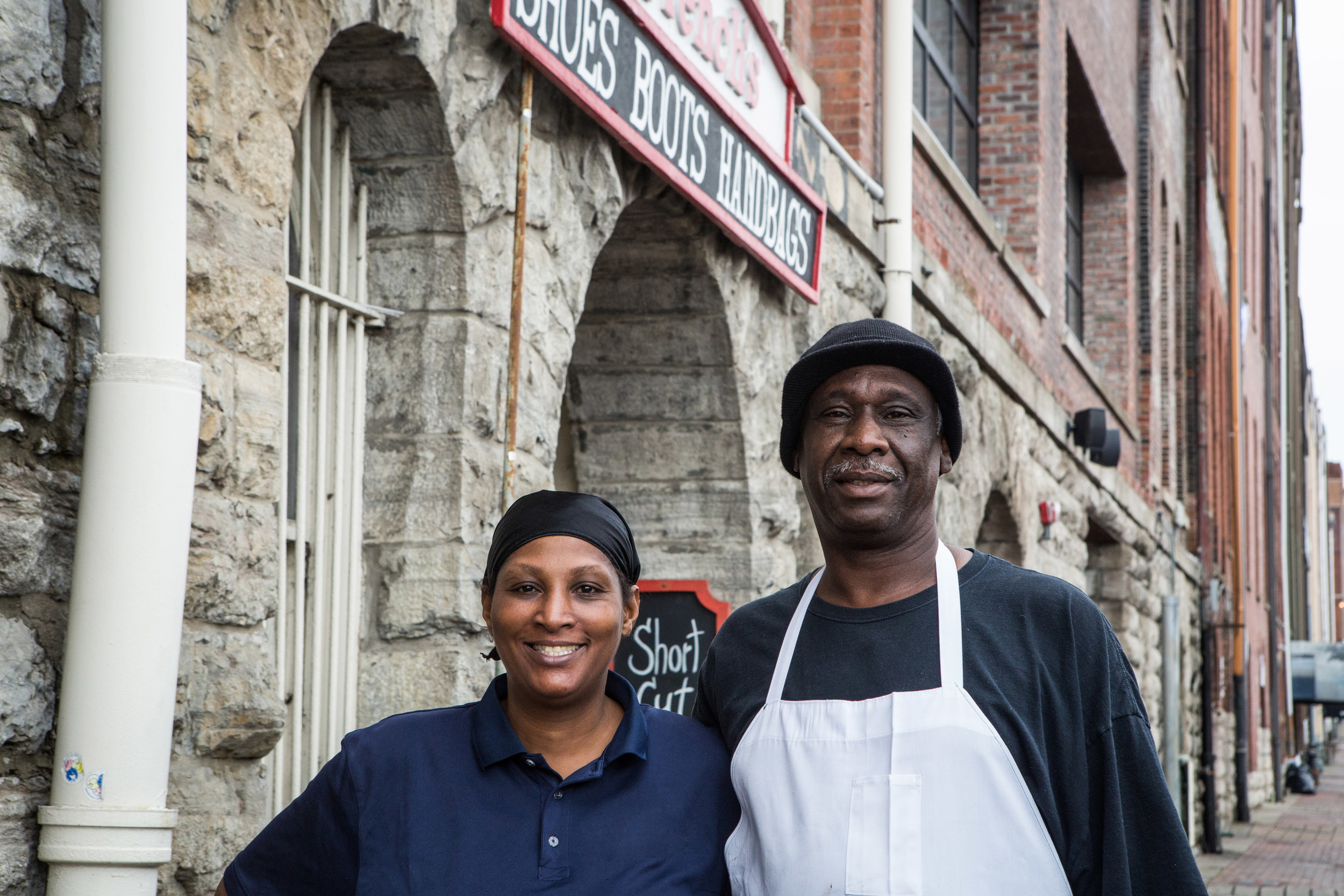 These two stepped out of a leather working shop for a break, and I just knew I had to catch their smiling faces. When they saw me approach they thought I was lost and kindly offered directions.I awkwardly asked for a photo instead and they laughed and obliged. Thanks for being real nice and smiley, Music City.