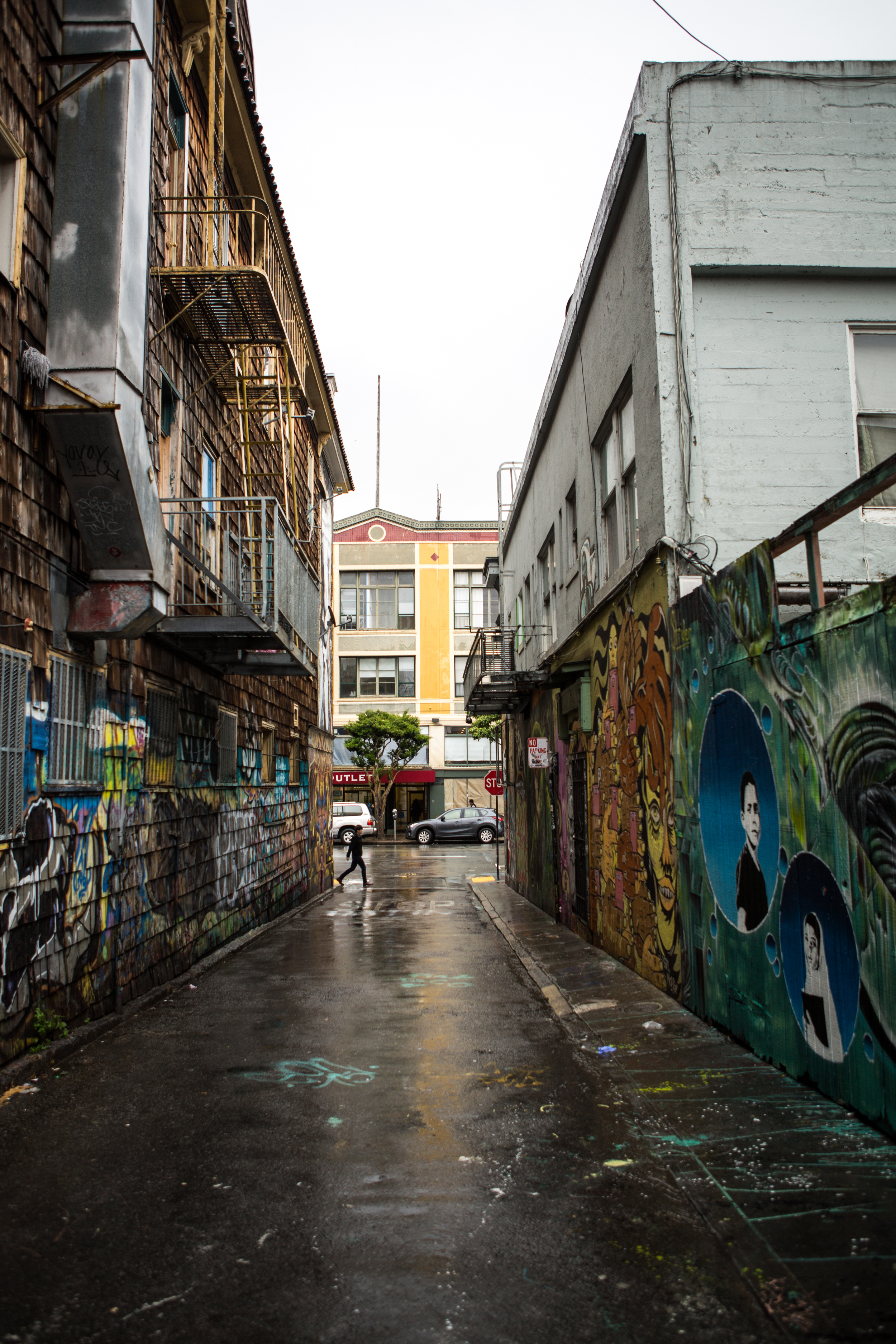 The famous Clarion Alley in the Mission District.