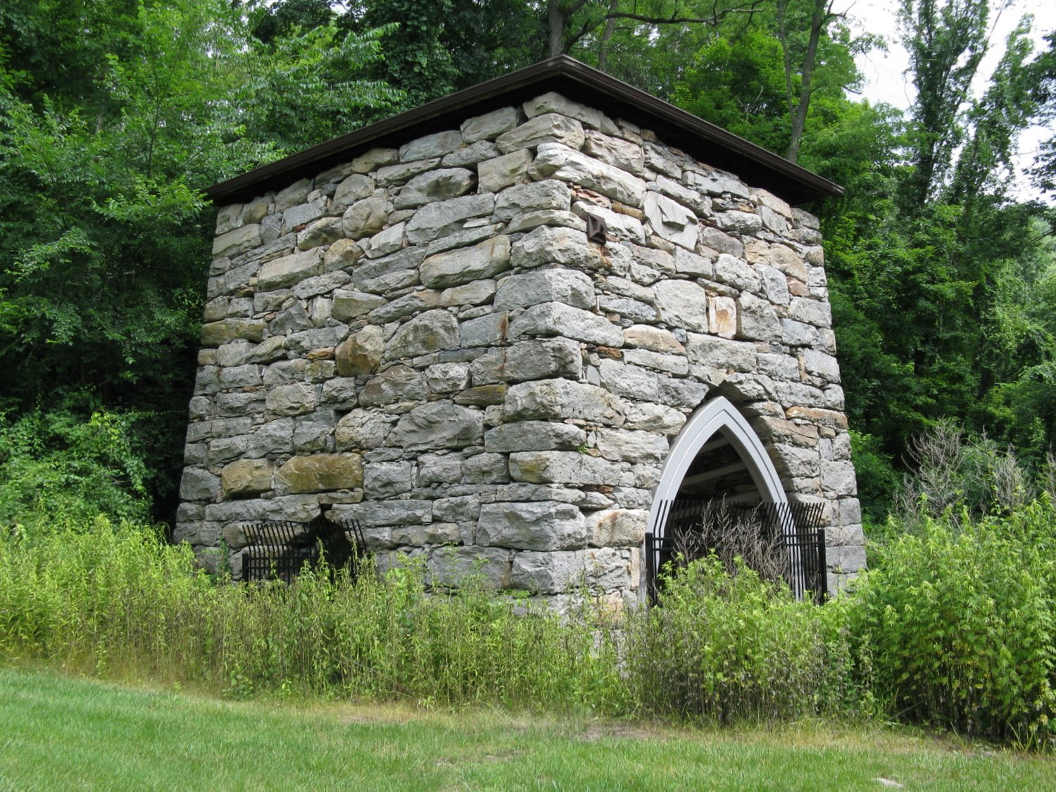 Kent Furnace, located on Route 7 in Kent, Connecticut was put into blast in 1826.