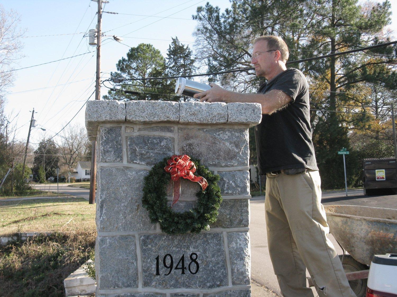Belvidere Park time capsule installation, December 11, 2011