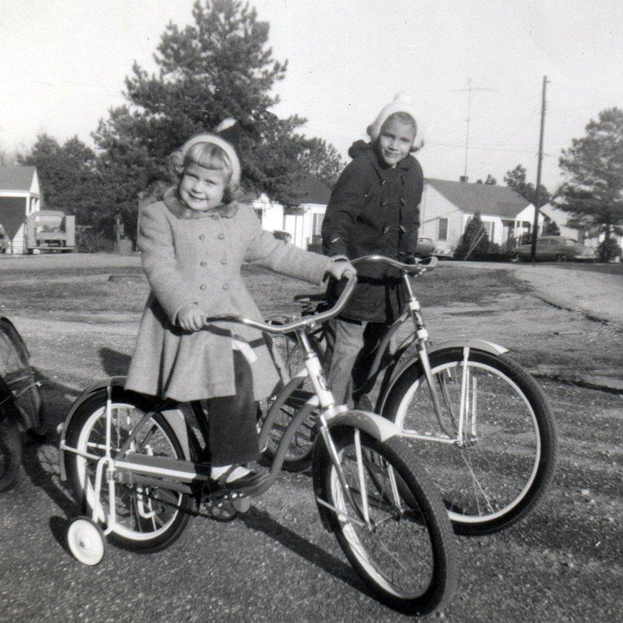 Biking along the triangle near Vale and Plainview Avenue