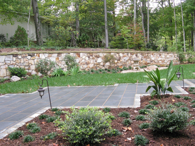 """Cut pattern granite in varying lengths, 12"""" wide"""
