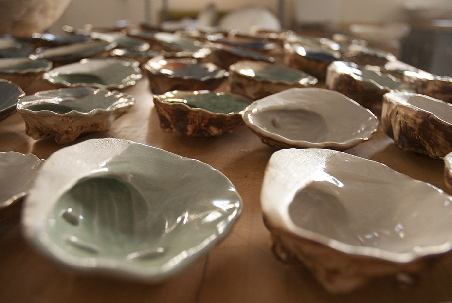 Salt and Earth Ceramics is Landis' side business. When she is not creating imaginative sculpture she is selling her wares at craft fairs locally in the Northern California Bay Area. Photo © Aimee Santos