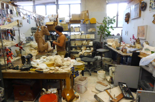 An overall shot of Wesley T. Wright in his graduate studio last year. Photo © Aimee Santos