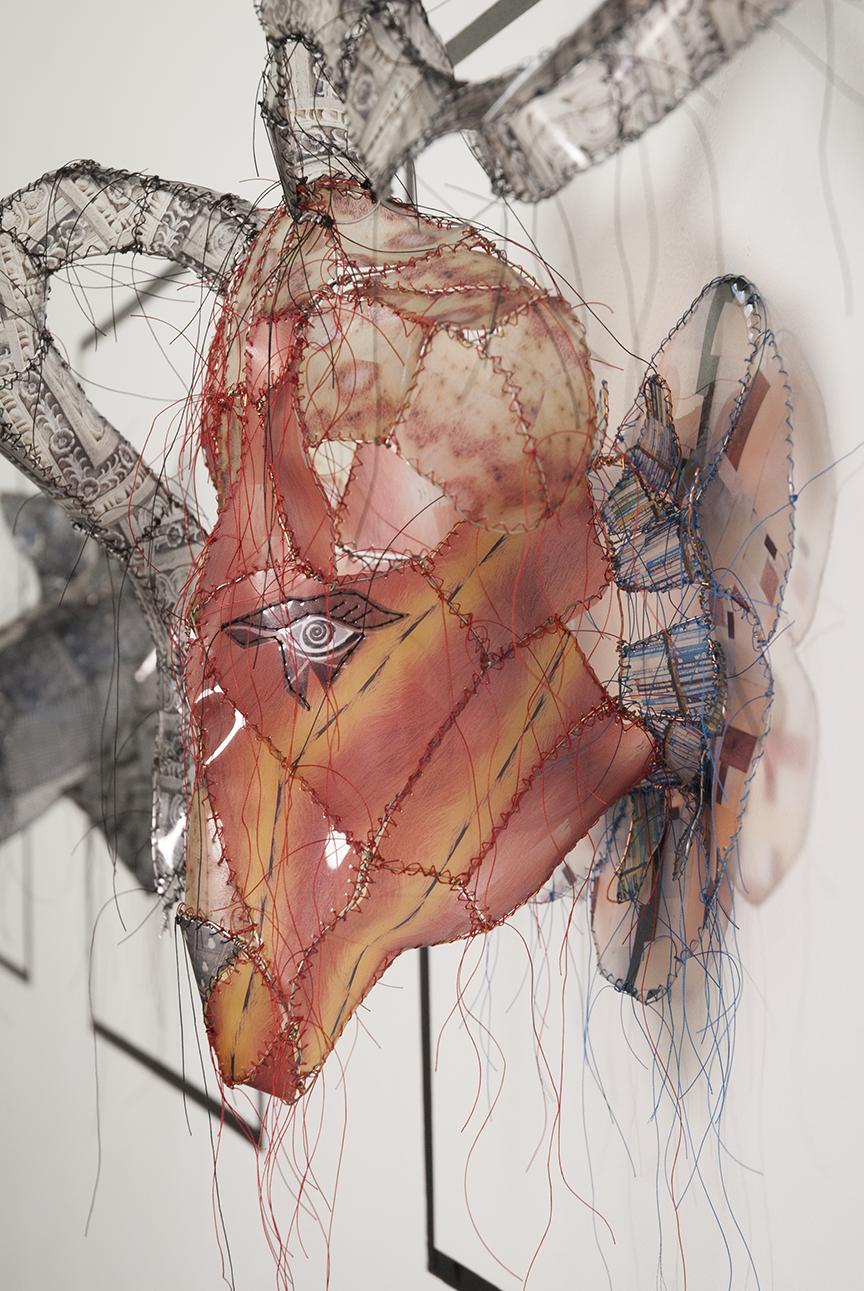 An animal bust profile hanging in Samuel's studio in Santa Monica, CA. Photo © Aimee Santos