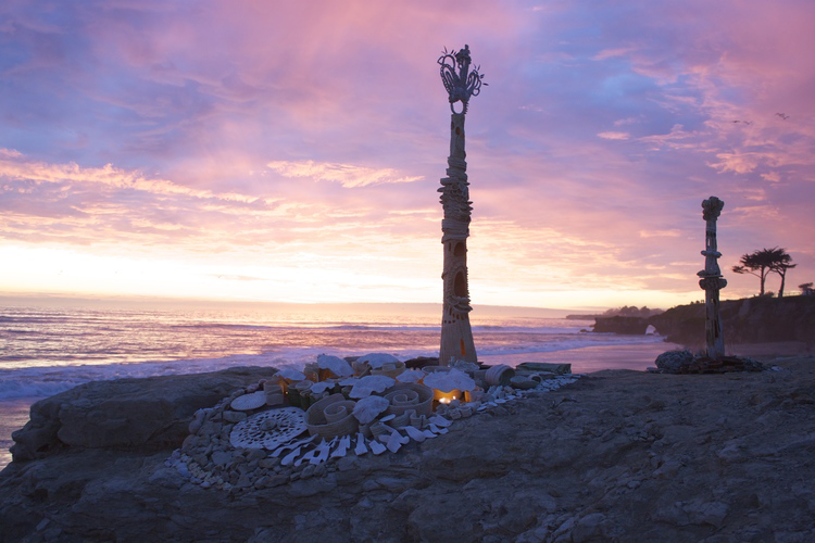 Earthworks Sculpture from January 9, 2015 by Jackie Wride in Santa Cruz, CA.  Photo courtesy of the artist.