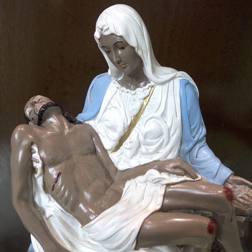 'La Pieta' from 'Make 'Em All Mexican' project by Linda Vallejo.  Photo © Aimee Santos