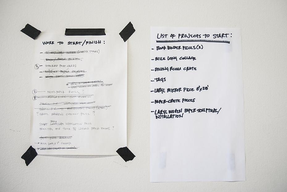 Gratkowski's 'To Do' list. Photo © Aimee Santos