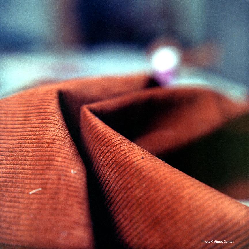 Fabric is everywhere in Haynes' studio. Photo © Aimee Santos