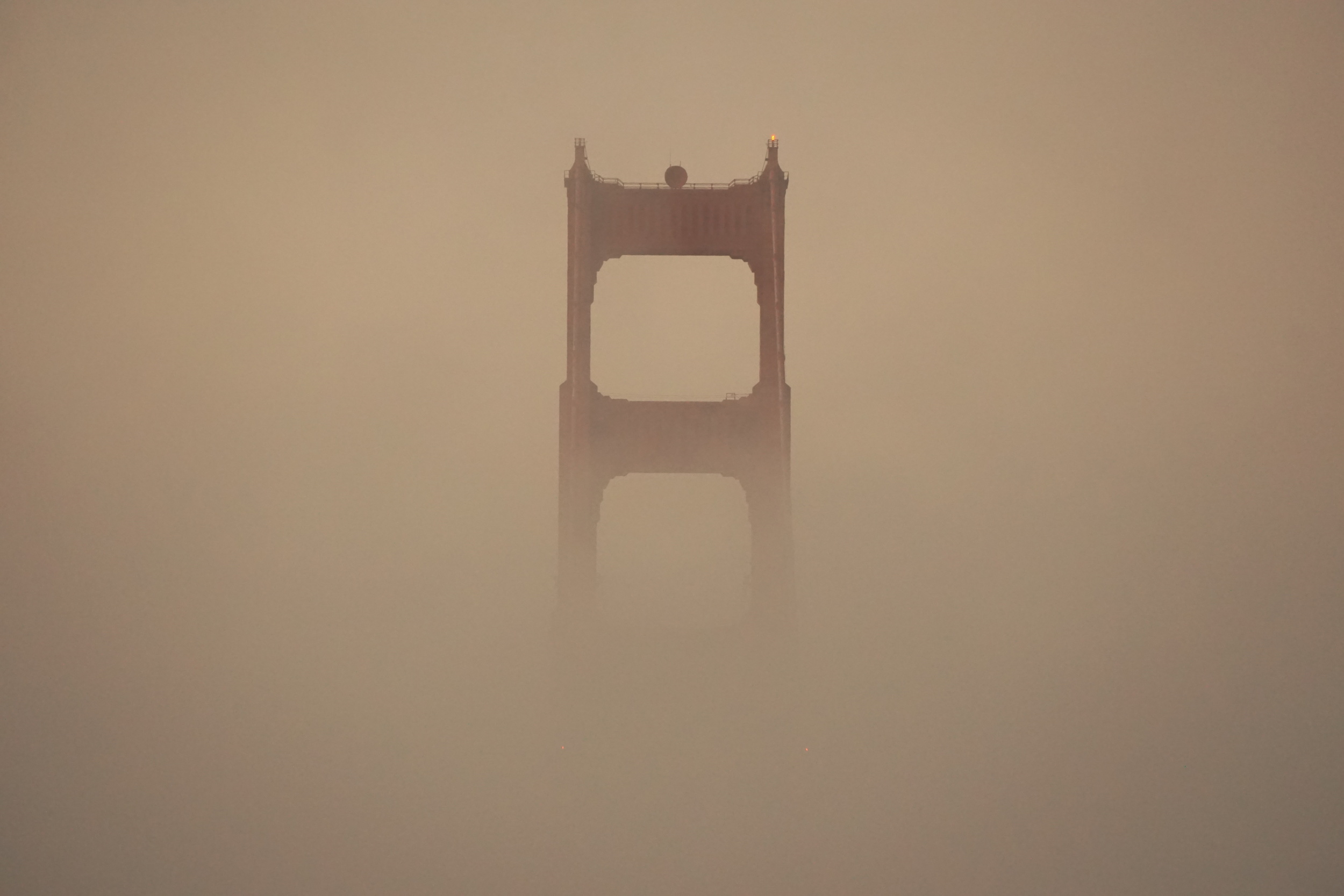 Golden Gate Bridge through the fog - San Francisco November 2015