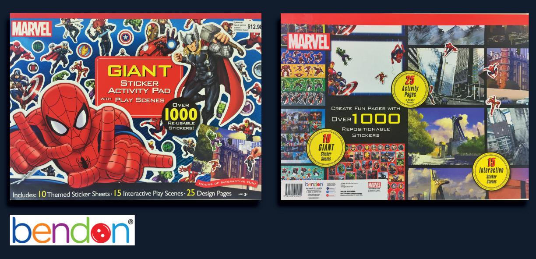 Marvel Giant Sticker Pad