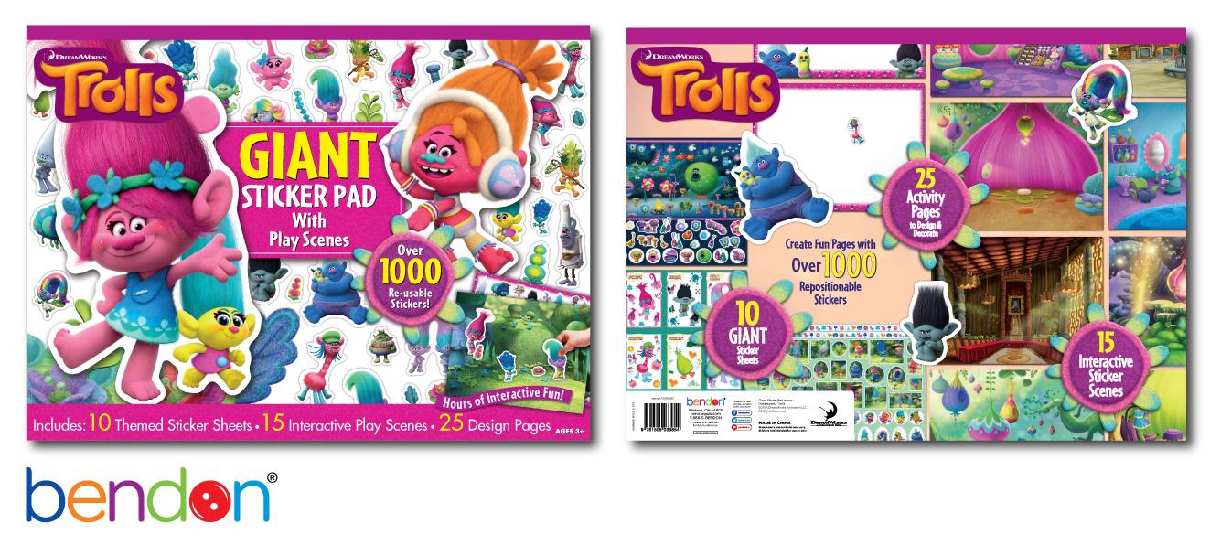 Trolls Giant Sticker Pad