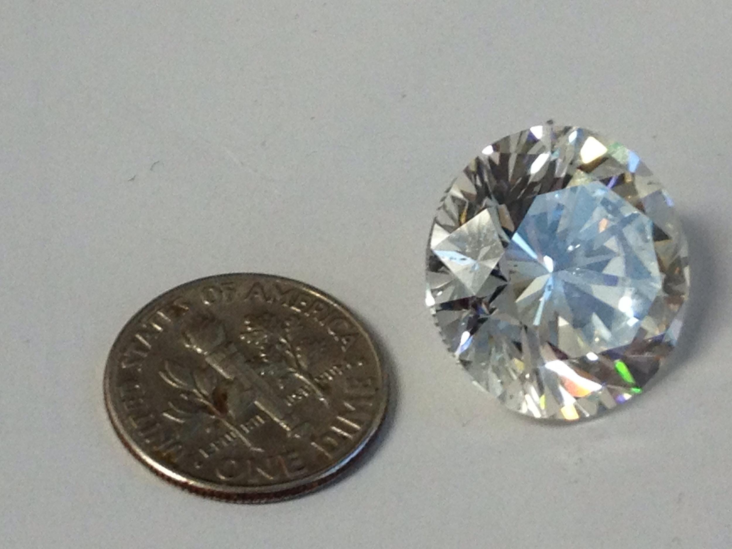 One Big Diamond: 24.12 carats... larger than a dime!