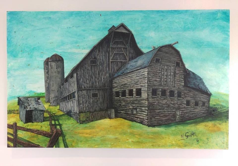 McPolin Farm - Oil on wood