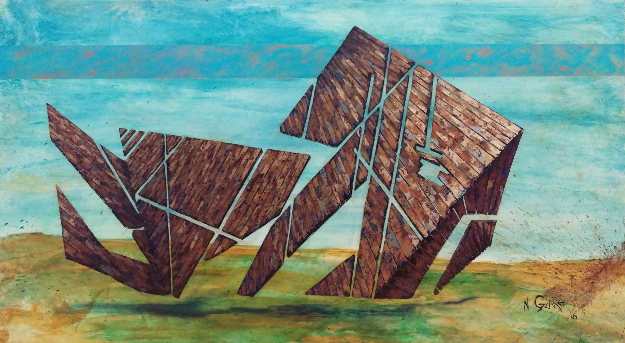"The ROM Barn 41""x 74"" (SOLD)"