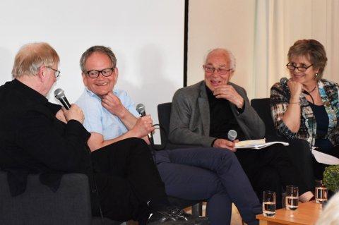 F.v: Klaus Hagerup, Magnus Takvam, Olav Vesaas og Ragnhild Sælthun Fjørtoft. FOTO: Anne Dehli, Dag og Tid