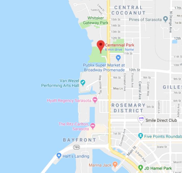 Centennial Park 10th Street Boat Ramp - 1105 10th Street, Sarasota Fl 34236