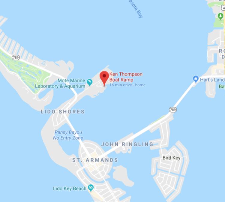 Ken Thompson Boat Ramp - 1708 Ken Thompson Pkwy, Sarasota, FL 34236