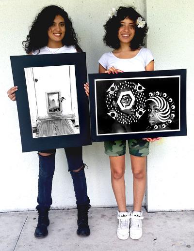 """Rise and Shine"", Lara Pinheiro (left) ""Lex and Peri"", Brittany Duffy (right)"