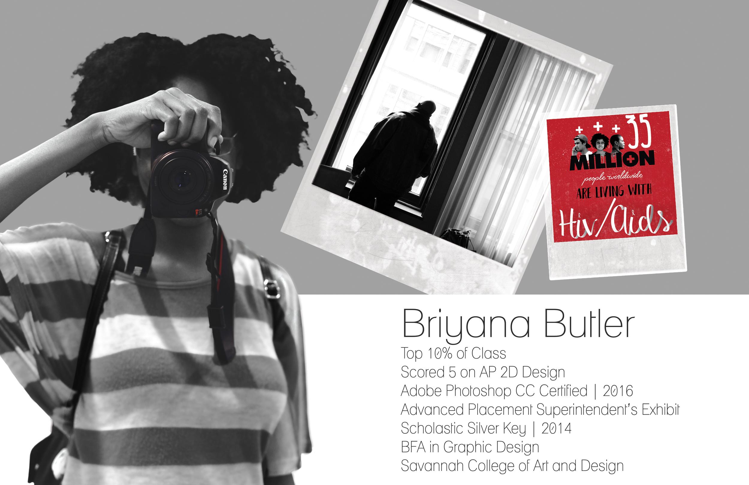 Briyana Butler, Senior 2016