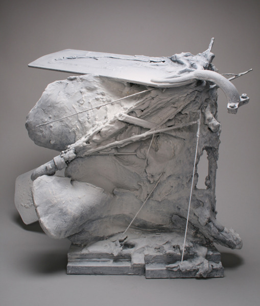 Baraka , 2012 Plaster, ceramic, found objects, acrylic, and wax 23 x 20 x 16.5