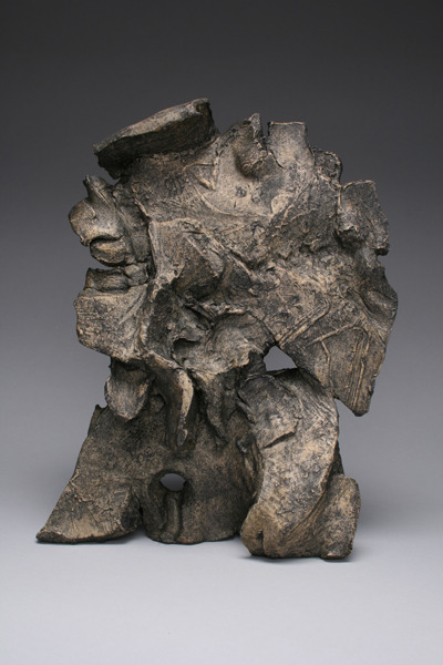 Untitled (S-CR_0025) , 2012 Stoneware with wax patina 7.5 x 4 x 11 inches