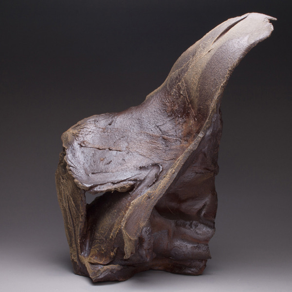 Ayomide , 2011 Stoneware, anagama fire 6.5 x 14.5 x 17.5 inches