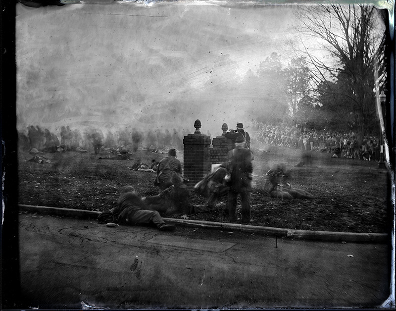 """Fredericksburg #13"" from the series Civil War , 2012 Archival digital ink jet print 40"" x 50"""