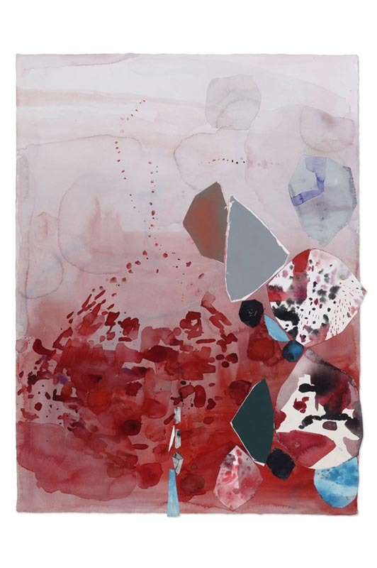 Pink , 2011 Mixed media collage on paper 22 x 30 inches