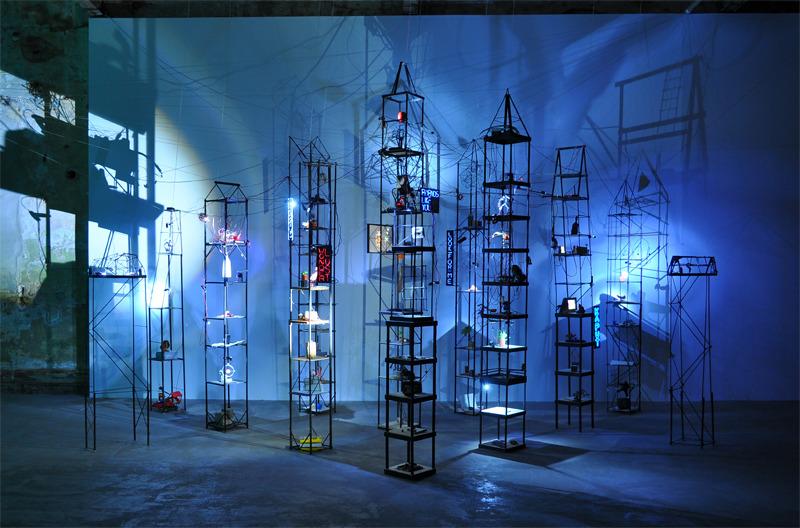 WONDERLUST, 2012 Lumber, electronics, Arduino, Mac Mini, camera, and found materials 18 x 18 x 12 feet
