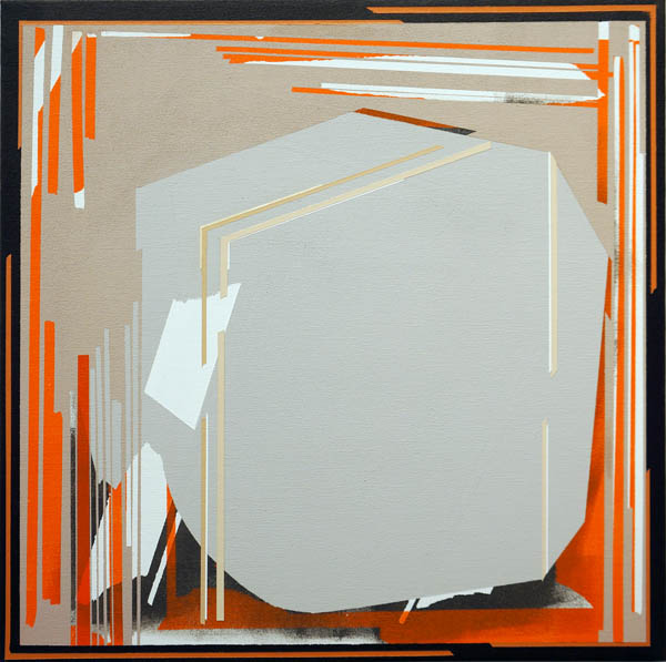 "Shattered, 2012   Acrylic on canvas   24"" x 24"""