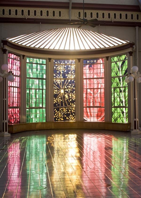 Light, More Light , 2008 Duraclear, 5 Windows 13'x 4'each  Installation View, Interior Vanderbilt, Conservatory, Oakdale NY