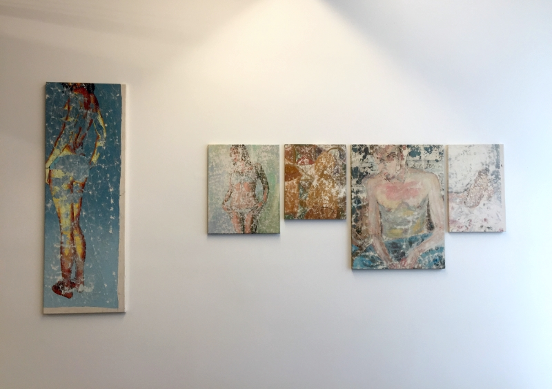 Lucas Ajemian  Laundered Painting series  Installation view