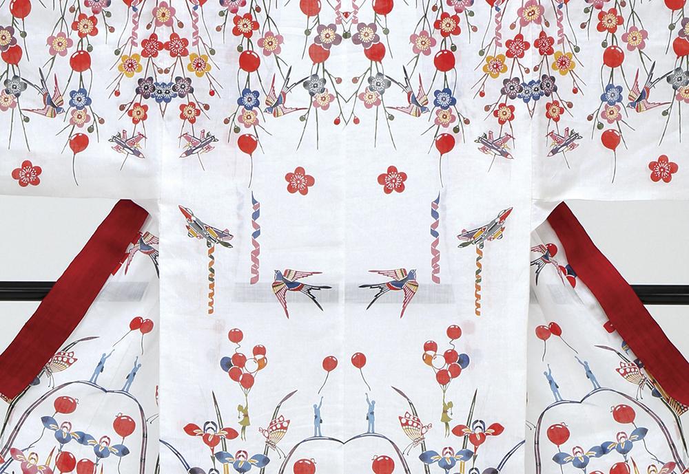 Billowing,  2013 Bingata dye on linen