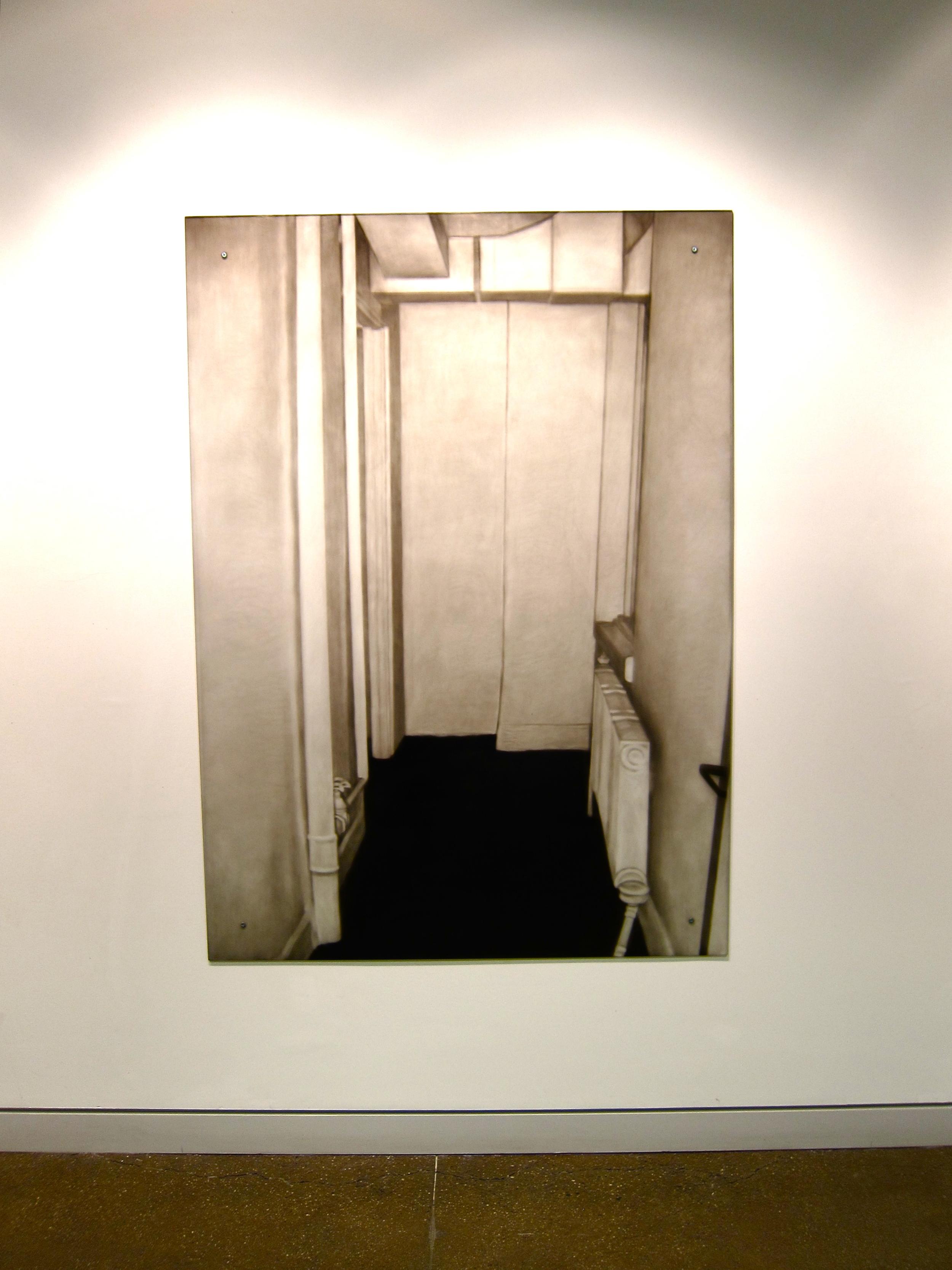 "Sarah Leahy Interior Ink painted on plexiglass 43""x 60"""