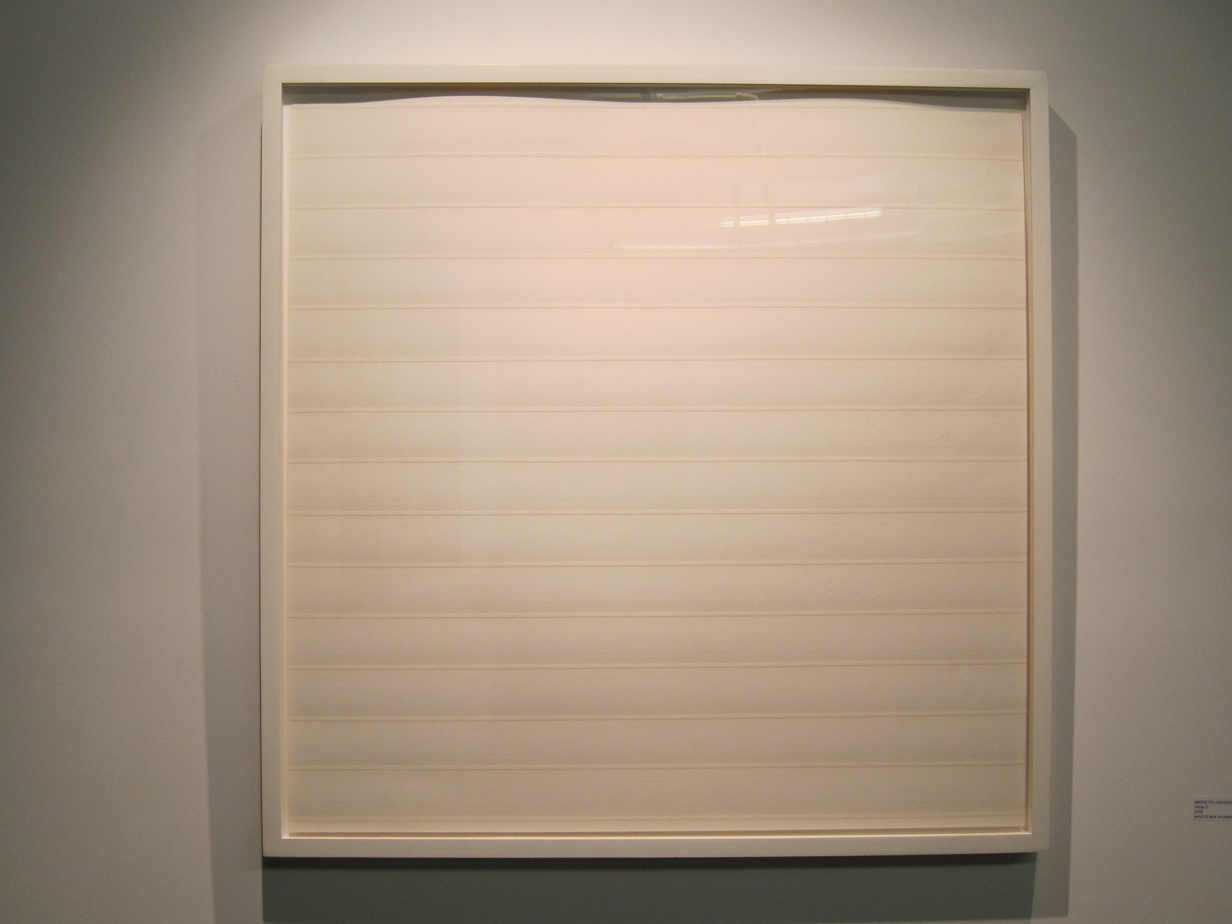 Marietta Hoferer White 5, 2008 Pencil and transparent tape on paper  31x31 inches