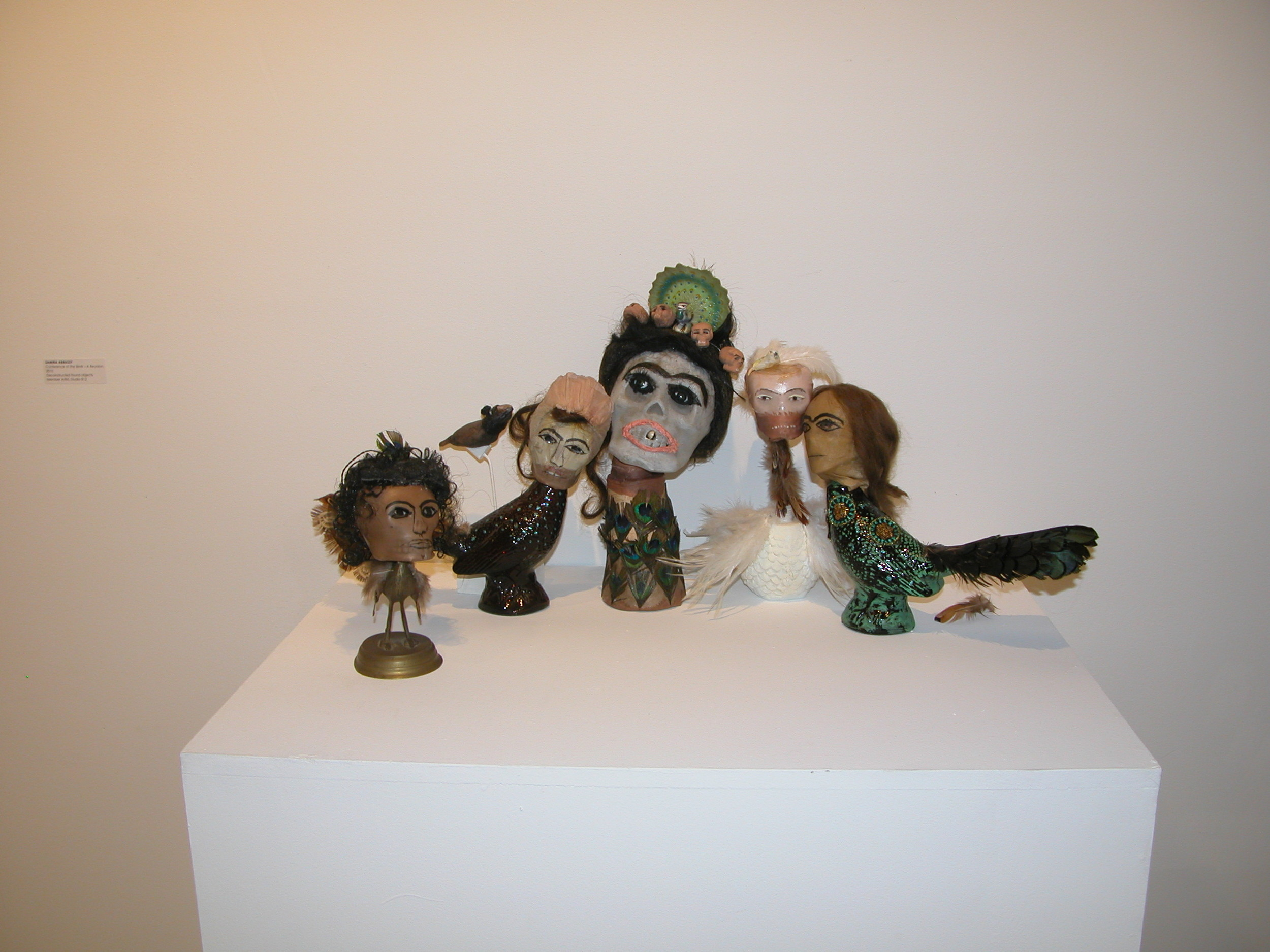 Samira Abbassy Conference of the Birds- A Reunion, 2010 Deconstructed found objects and various materials  10x4x4 in