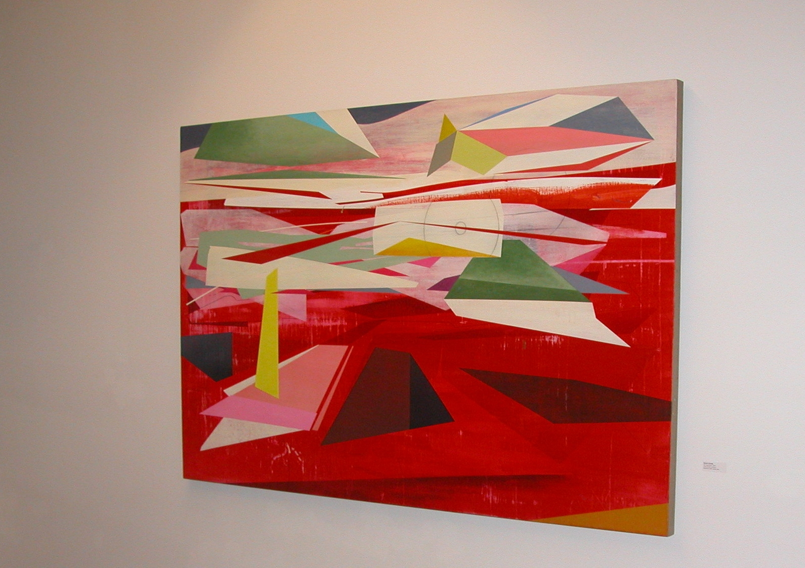 David Collins On approach, 2010 oil and acrylic on linen 46x70 inches